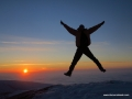 itulumaz dağında gün batımı