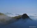 kaçkar küçük buzuldan manzara ve geride verçenik dağı